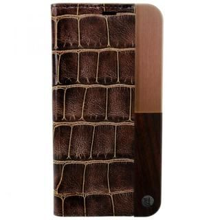 UUNIQUE 50:50 LUXE CROC - FOLIO HARD SHELL Brown iPhone X