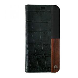 UUNIQUE 50:50 LUXE CROC - FOLIO HARD SHELL BLACK iPhone X