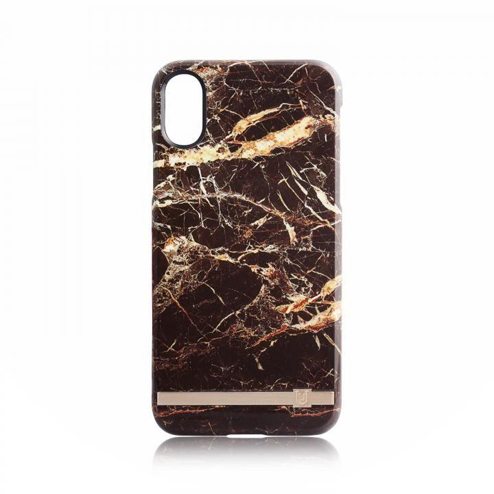 UUNIQUE MARBLE PRINT DESIGN BROWN/GOLD iPhone X
