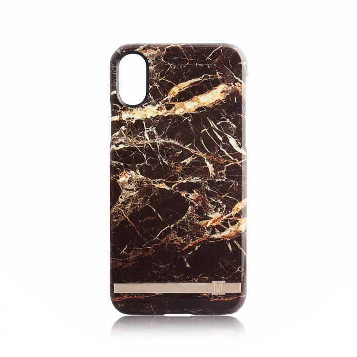【iPhone Xケース】UUNIQUE MARBLE PRINT DESIGN BROWN/GOLD iPhone X_0