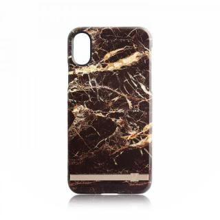 UUNIQUE MARBLE PRINT DESIGN BROWN/GOLD iPhone X