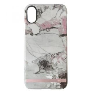 UUNIQUE MARBLE PRINT DESIGN GREY/PINK iPhone X