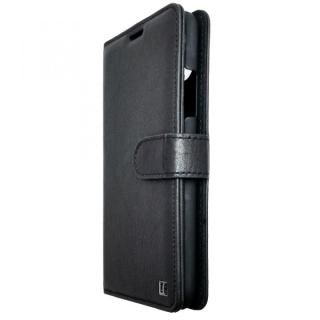 UUNIQUE 本革 スライド式内側手帳型ケース Black iPhone X