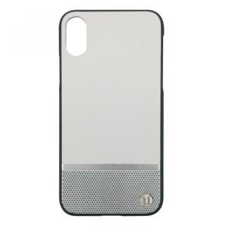 iPhone X ケース UUNIQUE 50:50 HARD SHELL WHITE & SILVER(PERFORATION) iPhone X