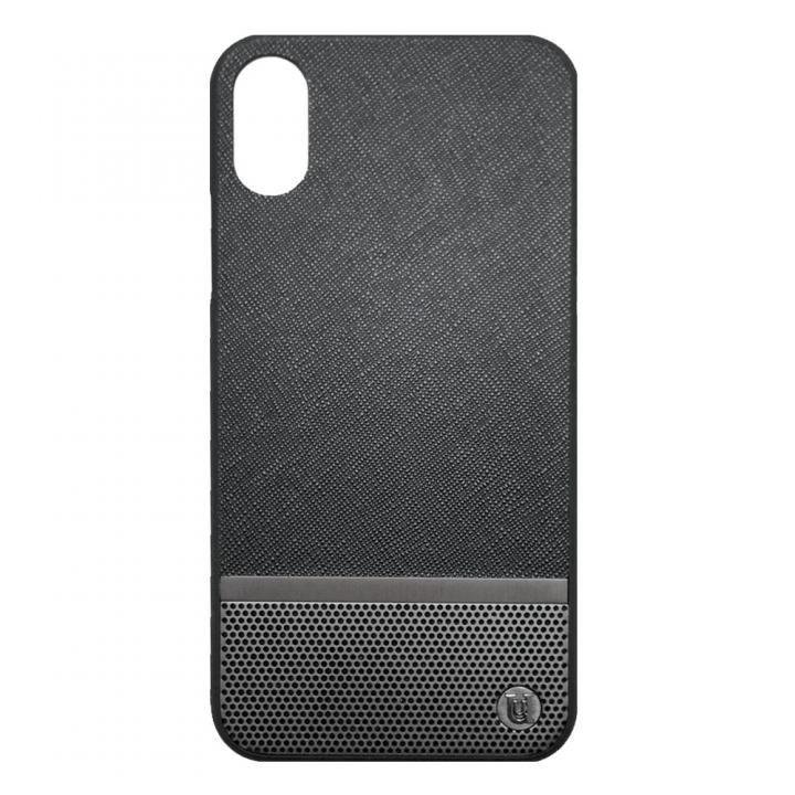 UUNIQUE 50:50 HARD SHELL BLACK & GUNMETAL(PERFORATION) iPhone X
