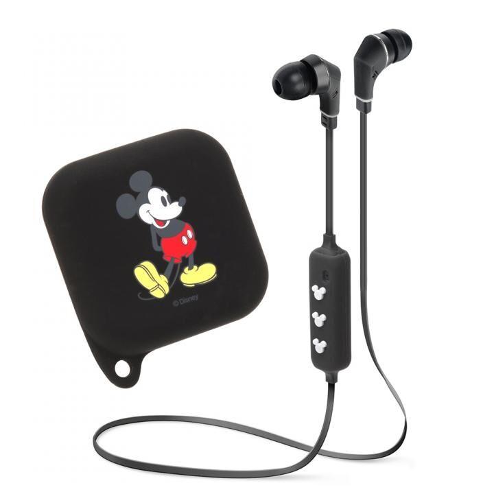 Bluetooth 4.1搭載 ワイヤレス ステレオ イヤホン シリコンポーチ付き ミッキーマウス/ブラック_0