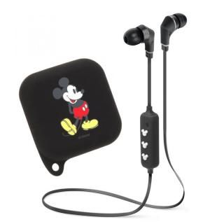 Bluetooth 4.1搭載 ワイヤレス ステレオ イヤホン シリコンポーチ付き ミッキーマウス/ブラック