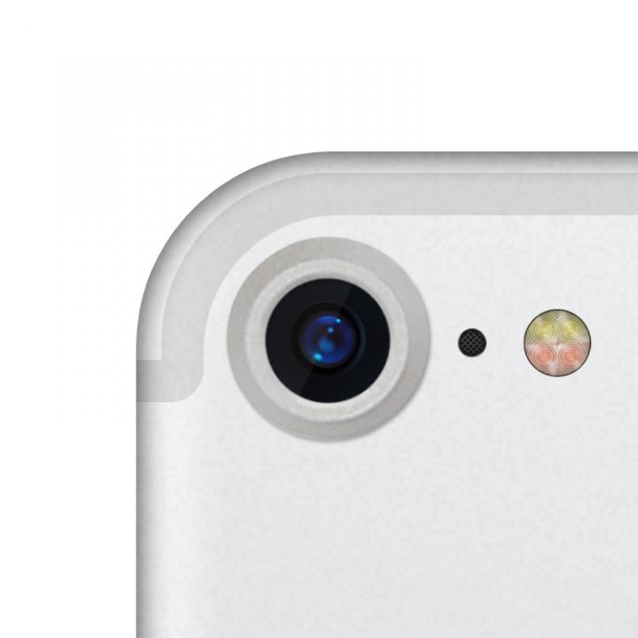 truffol カメラレンズ保護 クリーナー付き Aluminium Lens Guard シルバー iPhone 7_0
