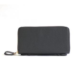 カード39枚 大容量で最大限コンパクトな設計ジャバラ式カードケース 長財布 Plog(プログ) ブラック【1月中旬】