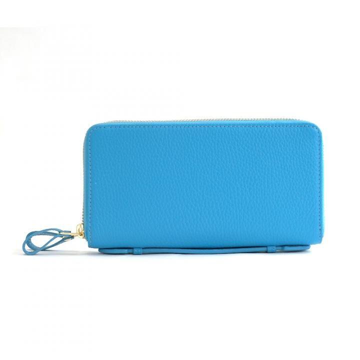カード39枚 大容量で最大限コンパクトな設計ジャバラ式カードケース 長財布 Plog(プログ) ブルー_0