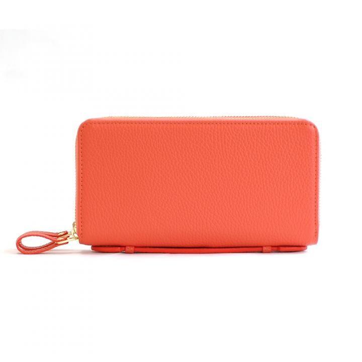 カード39枚 大容量で最大限コンパクトな設計ジャバラ式カードケース 長財布 Plog(プログ) オレンジ_0