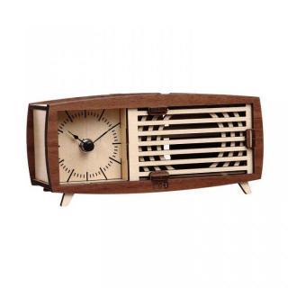 天然木の組み立てキット レトロ スピーカー時計