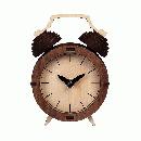 天然木の組み立てキット レトロ 目覚まし時計