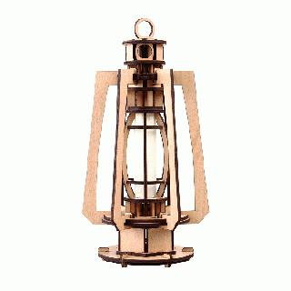 天然木の組み立てキット レトロ LEDランプ/P
