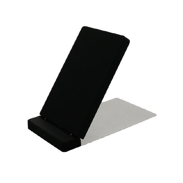 スマートフォン汎用【+U】Qi(チー)/ワイヤレス充電スタンド シルバー_0