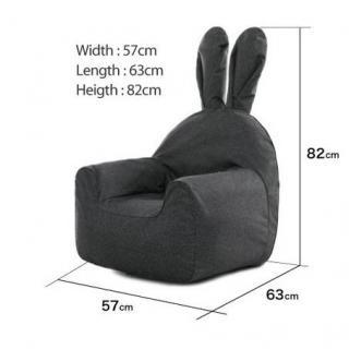 うさぎ型エアーソファー「Rabito Chair」 S/レッド_4