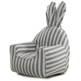 うさぎ型エアーソファー「Rabito Chair」 S/グレーストライプ【12月下旬】