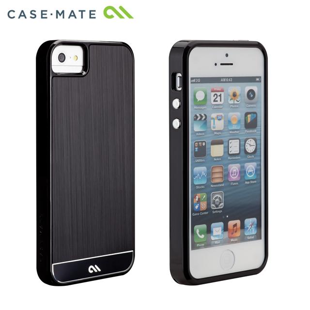 【iPhone SE/5s/5ケース】iPhone SE/5s/5 クラフトケース ブラッシュアルミ ブラック_0