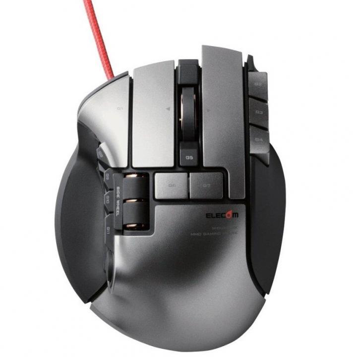 ゲーミングマウス DUX 2台同時操作対応マウス ブラック