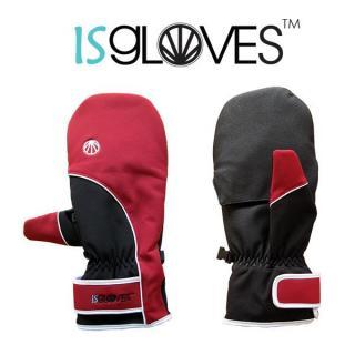 極寒対応スマホ手袋ISGloves 赤 Sサイズ_1