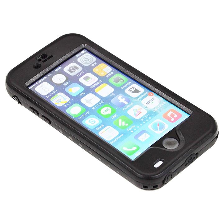 iPhone6 ケース Touch ID対応 防水&耐衝撃ケース ブラック iPhone 6_0