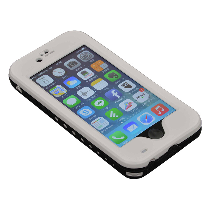 【iPhone6ケース】Touch ID対応 防水&耐衝撃ケース ホワイト iPhone 6_0