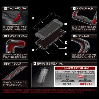 【iPhone6ケース】耐衝撃タフバンパー ZEROSHOCK ブルー iPhone 6_3