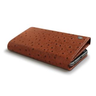 【iPhone6 Plusケース】手帳型ケース Zenith オーストリッチ型押し本革 ブラウン iPhone 6 Plus_3