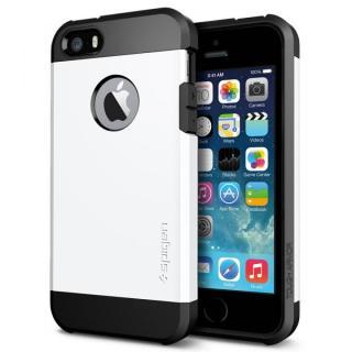 衝撃吸収性とデザイン性を両立 タフ・アーマー スムース・ホワイト iPhone SE/5s/5ケース