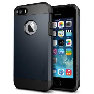 衝撃吸収性とデザイン性を両立 タフ・アーマー メタル・スレート iPhone SE/5s/5ケース