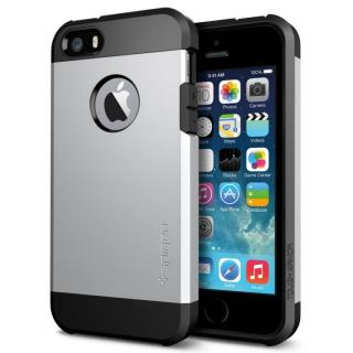 衝撃吸収性とデザイン性を両立 タフ・アーマー サテン・シルバー iPhone SE/5s/5ケース