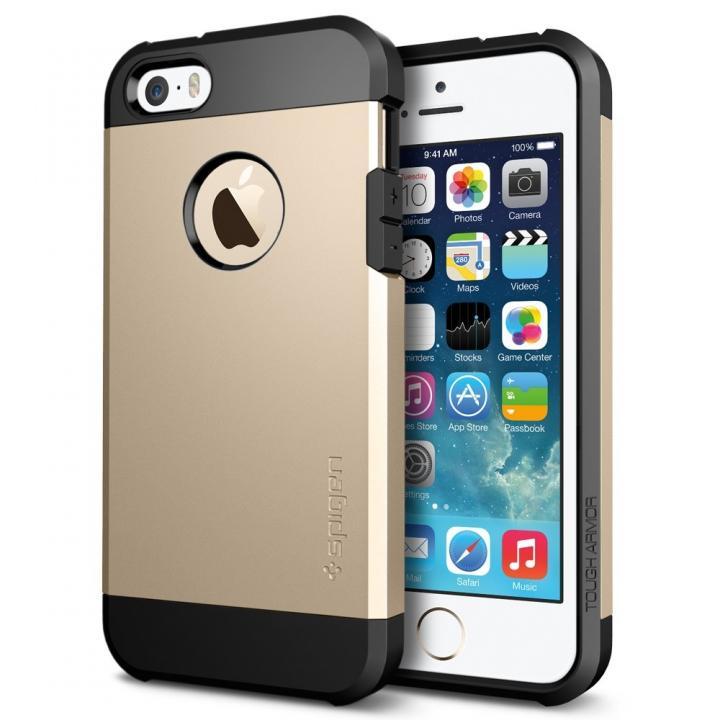衝撃吸収性とデザイン性を両立 タフ・アーマー シャンパン・ゴールド iPhone SE/5s/5ケース
