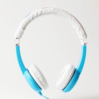 buddy phone 音量制限ヘッドホン 折りたたみ式 ブルー
