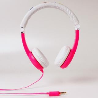 buddy phone 音量制限ヘッドホン 折りたたみ式 ピンク