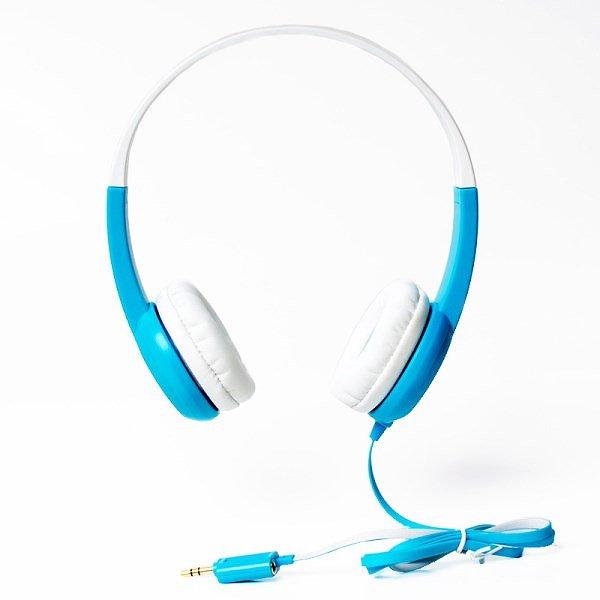 buddy phone 音量制限ヘッドホン ブルー