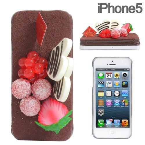 iPhone SE/5s/5 ケース 食品サンプルケース iPhone SE/5s/5 チョコケーキ_0