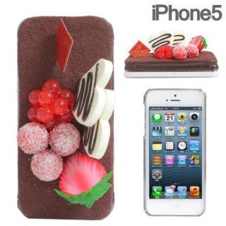 iPhone SE/5s/5 ケース 食品サンプルケース iPhone SE/5s/5 チョコケーキ