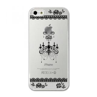 CollaBorn デザインハードケース Chandelier_black iPhone SE/5s/5