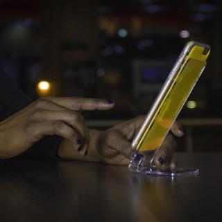 【iPhone6ケース】吸着型ハードケース goo.ey(グーイ) ブラック iPhone 6s/6_3