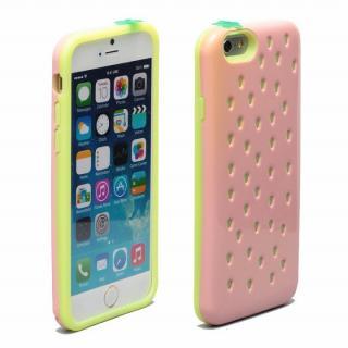 【iPhone6ケース】磁気遮断カード付属 Poppin' Strawberry ピンク iPhone 6_1