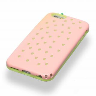 【iPhone6ケース】磁気遮断カード付属 Poppin' Strawberry ピンク iPhone 6_2