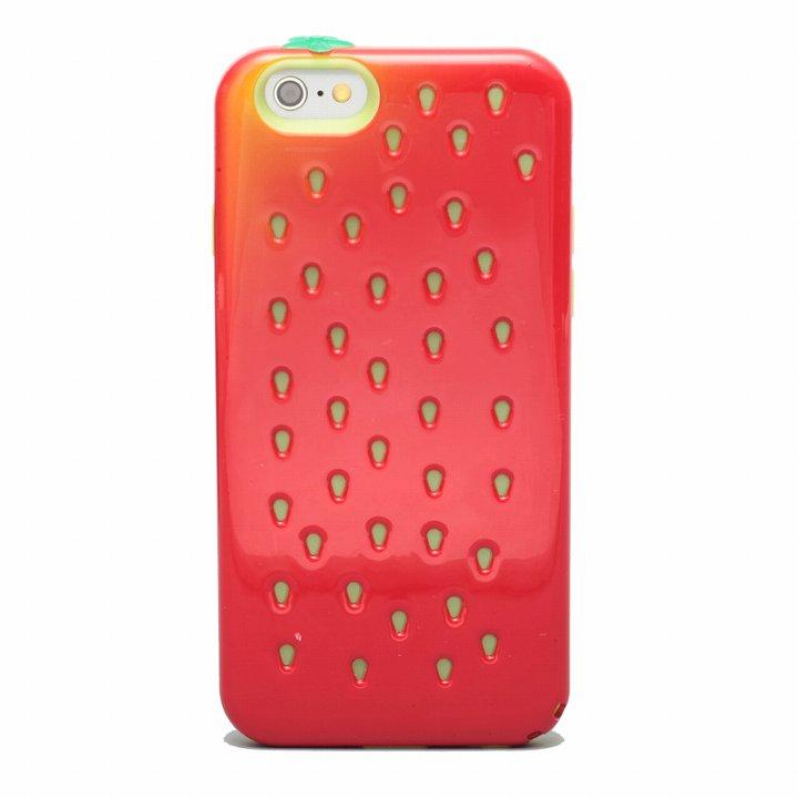 【iPhone6ケース】磁気遮断カード付属 Poppin' Strawberry レッド iPhone 6_0