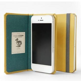 DODOcase 【iPhone SE/5s/5対応ハードカバー 手帳型ケース】 ゴールデン/ティール