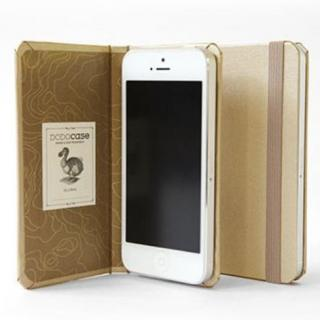 DODOcase 【iPhone SE/5s/5対応ハードカバー 手帳型ケース】 ゴールド/アース