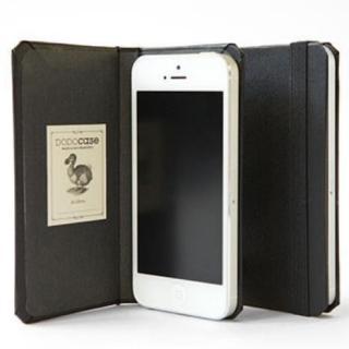 DODOcase 【iPhone SE/5s/5対応ハードカバー 手帳型ケース】 ブラック/チャコール
