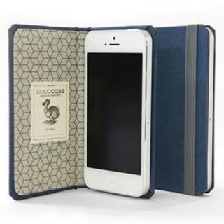 DODOcase 【iPhone SE/5s/5対応ハードカバー 手帳型ケース】 インディゴ/ジオメトリック
