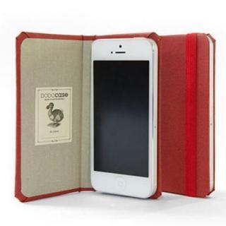 DODOcase 【iPhone SE/5s/5対応ハードカバー 手帳型ケース】 カージナル/ガニーサック