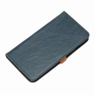 Premium Style 手帳型ケース ブルー iPhone 6 Plus