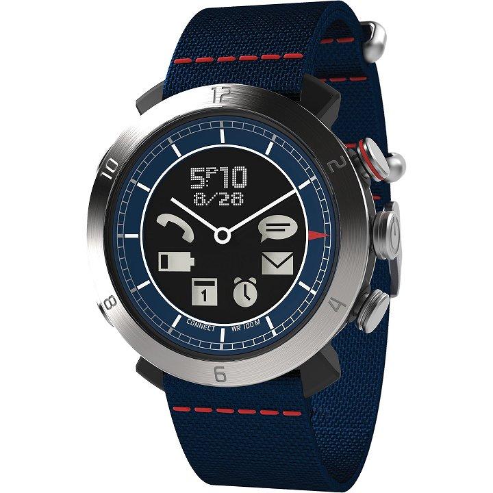スマートフォン連動腕時計 COGITO CLASSIC ナイロン ブルー