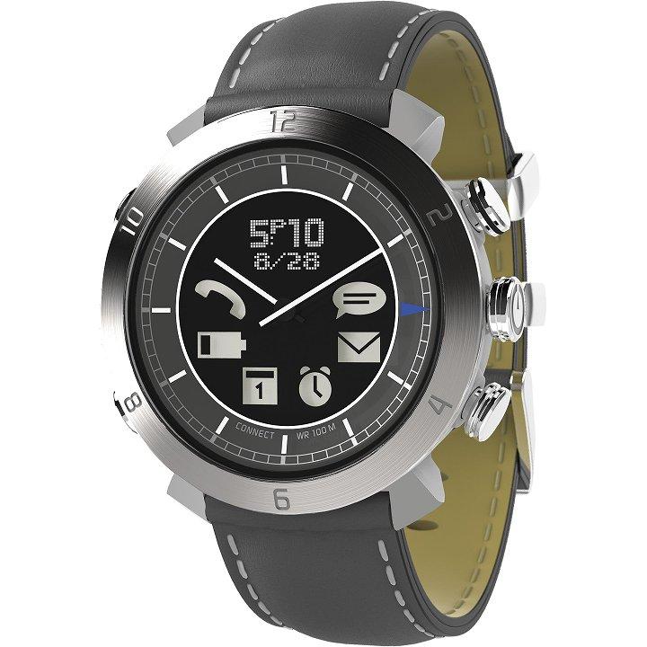 スマートフォン連動腕時計 COGITO CLASSIC レザー グレイ_0